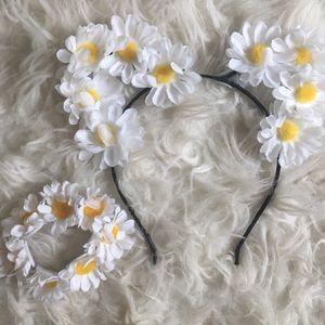 Cute Daisy Cat Ears and Hair Tie